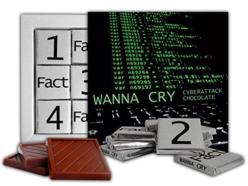 Da Chocolate Cute Candy Wannacry Chocolate Gift Set Computer Virus Design 5X5in 1 Box  Command Line