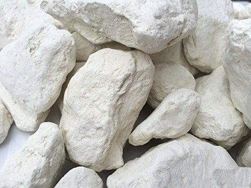 WHITE natural edible clay (BLANCA trozos de arcilla comestibles naturales para comer), 4 oz (110 g)