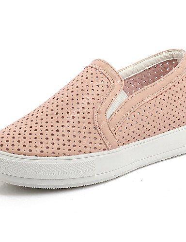 ZQ gyht Zapatos de mujer-Plataforma-Punta Redonda-Mocasines-Casual-Semicuero-Negro / Rosa / Blanco , pink-us11 / eu43 / uk9 / cn44 , pink-us11 / eu43 / uk9 / cn44 pink-us2.5 / eu32 / uk1 / cn31