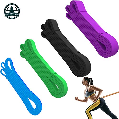 Bilinavy Resistance Band Set, Pull Up Assist Bands, Best Stretch Band for Pull Up Exercise, Powerlifting and Pole Fitness. Set-4