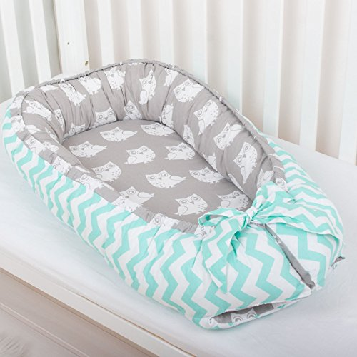Baby nest bed portable crib lounger baby bassinet co sleeper babynest babynest bed travel pad pod for (Travel Cot Bassinet)