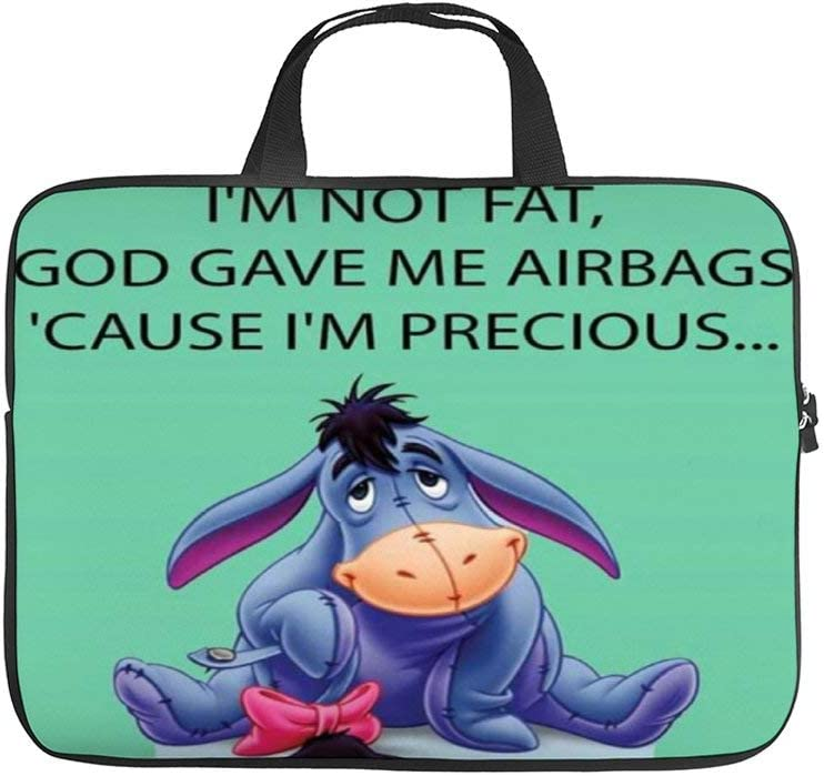 Confused Eeyore Laptop Bag Protective Case Tote Notebook Computer Pocket Case Carrying Zipper Bag 10-17 Inch