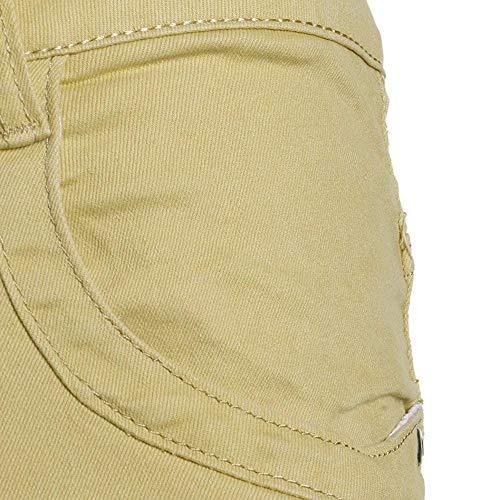 Slim Stretch Da In Giovane Pants Jeans Skinny Biker Lavato Look Khaki Denim Uomo Destroyed Fit xq5UtzCzw