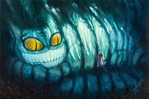Alice in Wonderland Cheshire Cat - Cheshire Woods Gallery Wrapped Canvas Wall Art by Christopher Clark (8