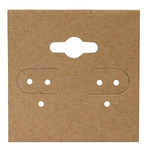 Kraft Earring Cards 1 1/2