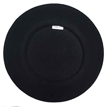 bc2cb4d0 Laulhere Heritage Traditional French Wool Beret (Black) at Amazon ...