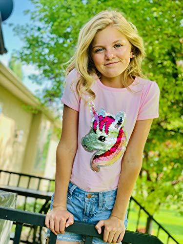 Hh Family Flip Sequin Unicorn Shirt Tee For Girls 3 12 Years