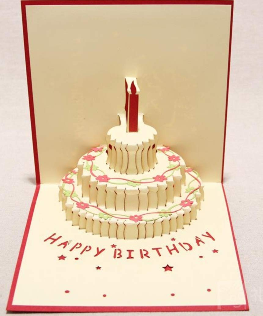 Prime 3D Pop Up Tactile Birthday Cake Candle Greeting Card With Funny Birthday Cards Online Chimdamsfinfo
