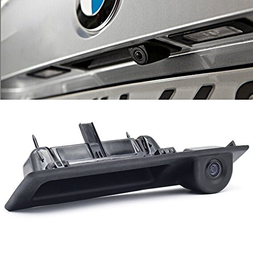 Trunk Handle Vehicle-Specific Camera Integrated into Case Handle Rear View Camera for BMW E60/E61/E70/E71/E72/E82/E88/E84/E90/E91/E92/E93/X1/X5 (No. LS8006 162 mm) (Gps E60)