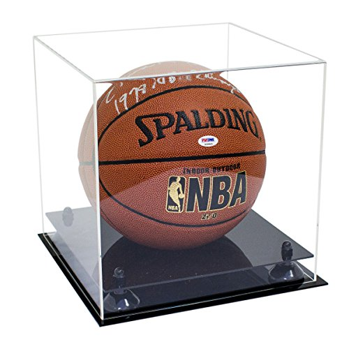 Deluxe Clear Acrylic Full Size Basketball Display Case with Black Risers (A001-BR)