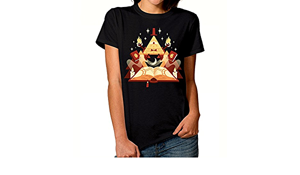 Womens Casual Bill Cipher-Gravity Falls T Shirts Tops Basic Short Sleeve Soft Blouse T-Shirt Asian Size