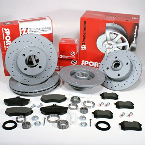 SEAT EXEO S CR 1.9TDi CROSS DRILLED GROOVED BRAKE DISC MINTEX PAD FRONT REAR