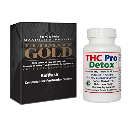 Bundle - THC Pro Detox 48 Hours to Cleanse plus Ultimate Gold Detox Shampoo