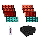 """10"""" Digit High LED Gas Price Changer Sign Include 6 Red Panels And 2 Green Panels 28'' x 13''"""