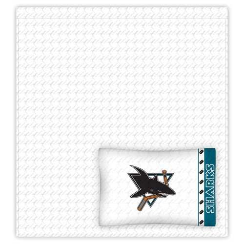 NHL San Jose Sharks Micro Fiber Sheet Set (Full)