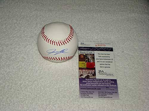 Justin Upton Hand Autographed Signed Oml Baseball - JSA Certified #N59773 Detroit Tigers MLB - Signed MLB Baseball Memorabilia