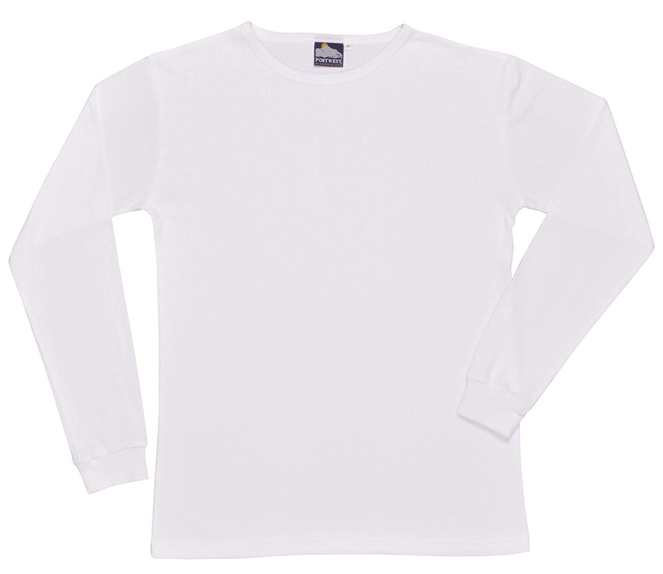 Portwest Mens Thermal T-shirt Long Sleeves Round Neck Innerwear Top Base Layer