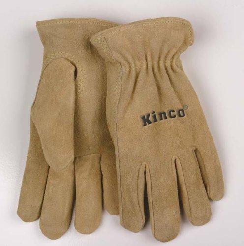 - Kinco 035117005457 Women's Suede Cowhide Drivers Unlined Work Garden Gloves, Large, Beige, Single Pair