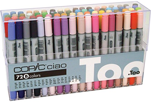 Copic I72B Ciao Markers Set B, 72-Piece by Copic Marker