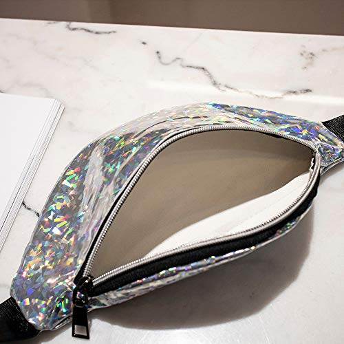 Holographic Fanny Women Girls Pack 80s Cute Fashion Fanny Packs Shiny Waist Pack Bum Bag by Bookear (Image #3)