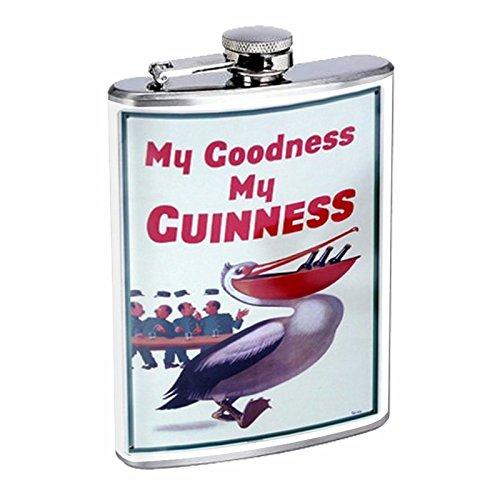 最終決算 Perfection My Inスタイルステンレススチールフラスコ8オンスビンテージポスターd-023 My My Goodness My Guinness Beer Pelicanレトロヴィンテージ B016B7H9ZY B016B7H9ZY, FIT LIFE:e6fe6f06 --- domaska.lt