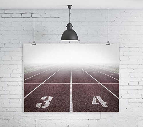 Track and Field Run Running Race Glossy Poster