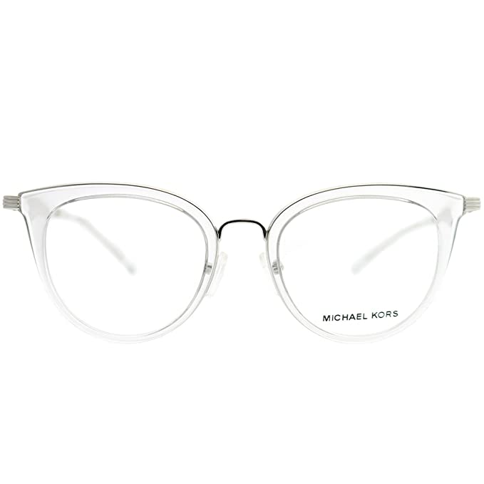 1c3df0189ad Michael Kors ARUBA MK3026 Eyeglass Frames 3050-50 - Silver MK3026-3050-50  at Amazon Men s Clothing store