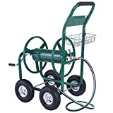 Rolling Wheel Garden Water Hose Reel Cart