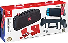 The Ultimate PLAY and STORE solution for your Nintendo Switch. This GOPLAY bundle protects your Nintendo Switch system in this 100% Nintendo licensed Switch case manufactured to Nintendo's stringent standards by RDS Industries. The GOPLAY Tra...