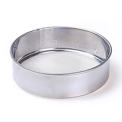 Aofocy Tamiz de Malla Redonda para Cocina, harina de azúcar, tamiz - Acero Inoxidable