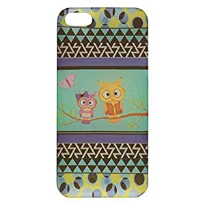 Cell Armor iPhone 5s/5 Ultra Thin Protective Cover - Retail Packaging - Two Owls and Butterfly by mcsharks