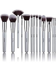 BS-MALL 13 PCS Makeup Brush Set Premium Synthetic Silver...