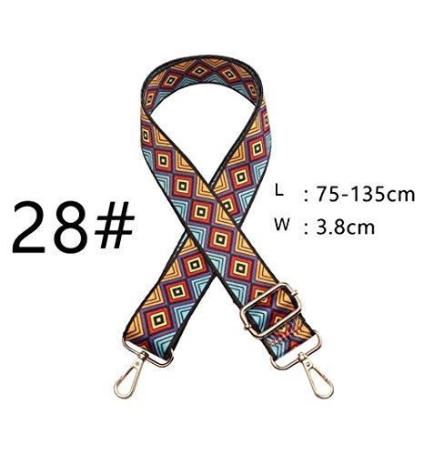 Replacement Canvas for Strap Purse Guitar Strap Handbags Crossbody Style 28 Multicolor fxwqT4B