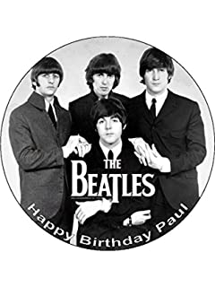 The beatles personalised birthday card amazon office products 75 beatles edible icing birthday cake topper bookmarktalkfo Choice Image