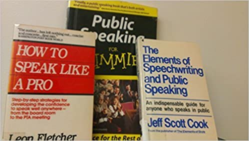 volumes of books on public speaking speech the elements of  3 volumes of books on public speaking speech the elements of speechwriting and public speaking how to speak like a pro public speaking for dummies 2nd