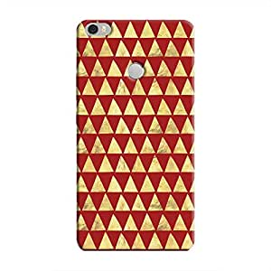 Cover It Up - Gold Triangle Tile Mi Max Hard Case