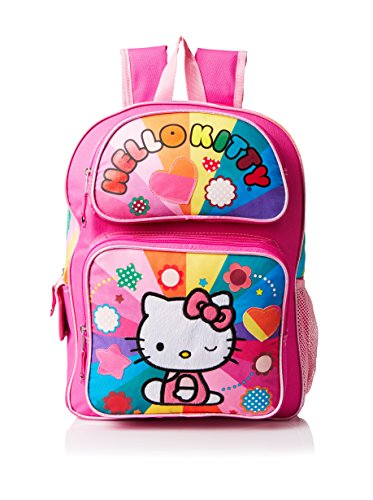 Hello Kitty Girl's Rainbow Hearts Backpack, Multi