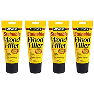 Minwax 42852000 Stainable Wood Filler, 6-Ounce 4 Pack