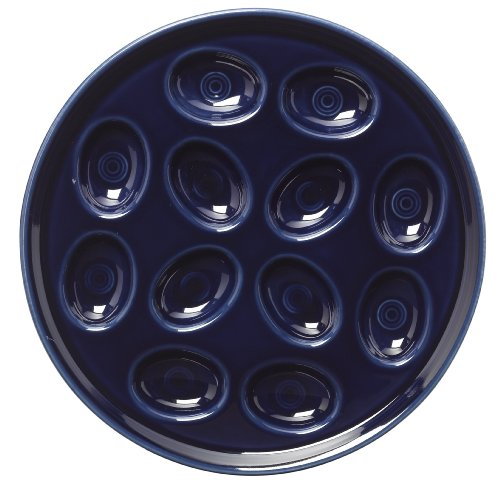 Fiesta 11-Inch Egg Tray, Cobalt - Homer Laughlin Fiesta Chocolate