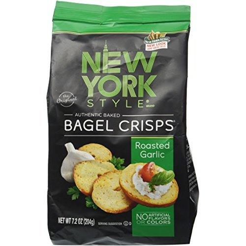 New York Style Bagel Roasted Garlic Crisps, 0.53 Pound