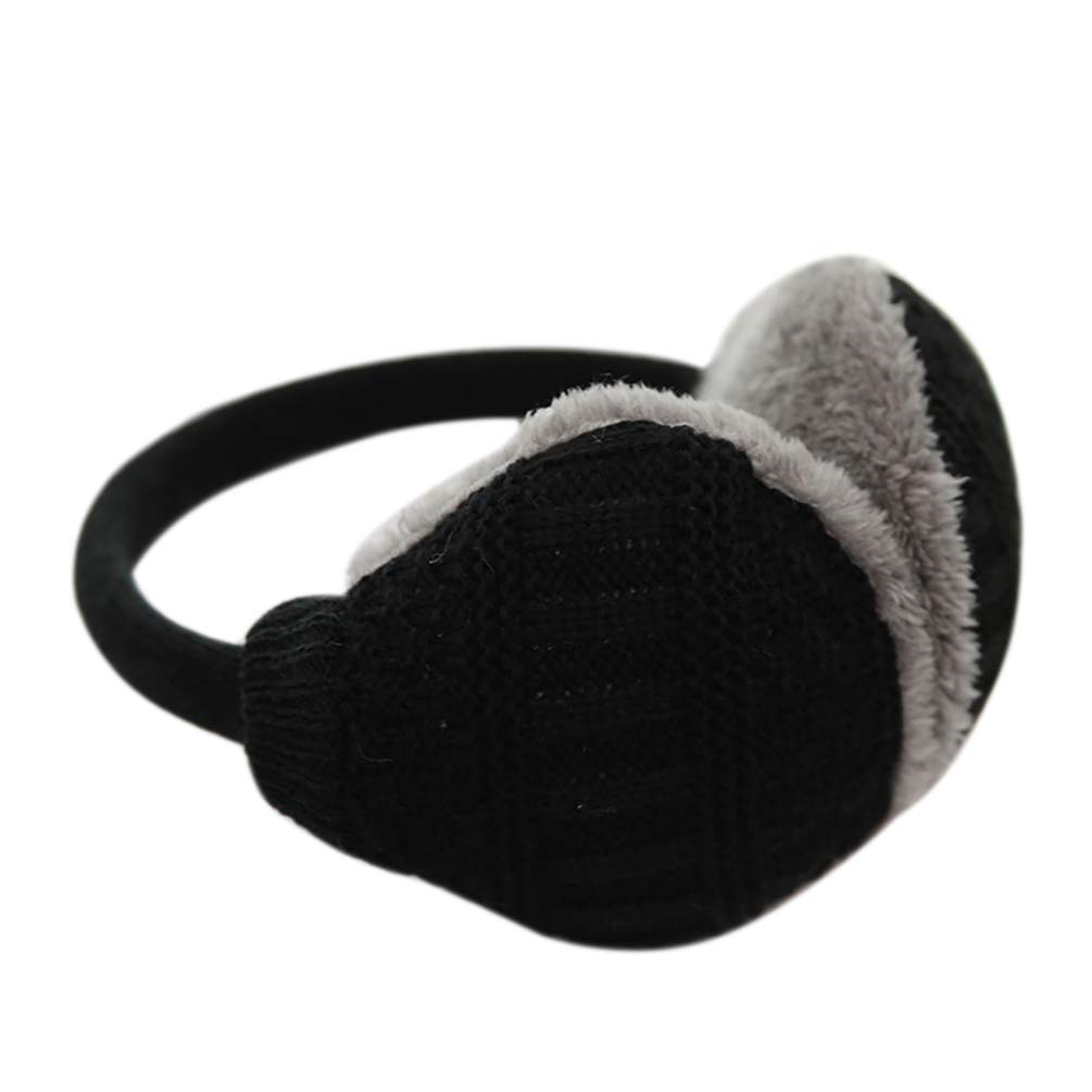HOBULL Unisex Knitted Warm Earmuffs Can Removable And Washable Winter Earmuffs