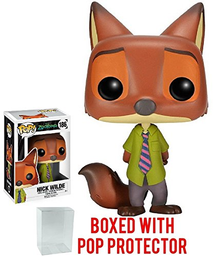 Funko Pop! Disney: Zootopia - Nick Wilde Vinyl Figure (Bundled with Pop BOX PROTECTOR CASE)
