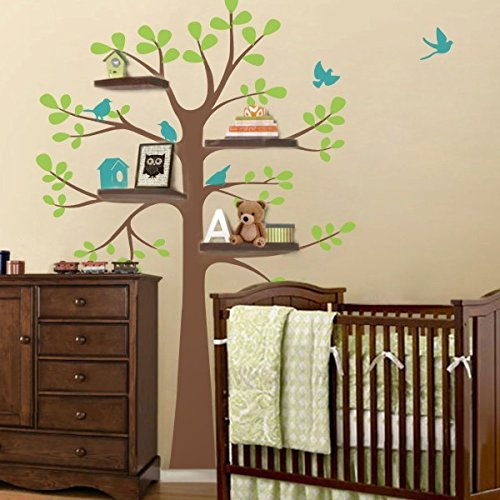 Wandtattoo-Baby Nursery Decor Vinyl Original-Wandtattoo - Regal Baum ...