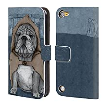 Official Barruf English Bulldog Dogs Leather Book Wallet Case Cover For iPod Touch 5th Gen / 6th Gen