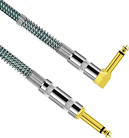 Cable de guitarra eléctrica en forma de L 1/4 de pulgada Recta a ...