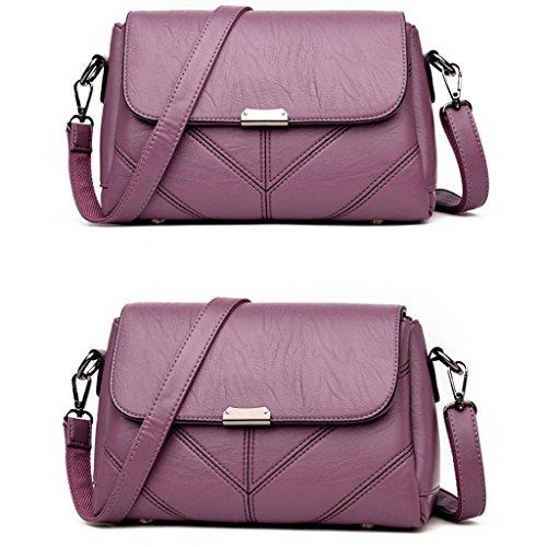 capacité main sac sac sac d'ge bandoulière à féminin à moyen Sac bandoulière grande Deep Purple main à Sac à qaOxB