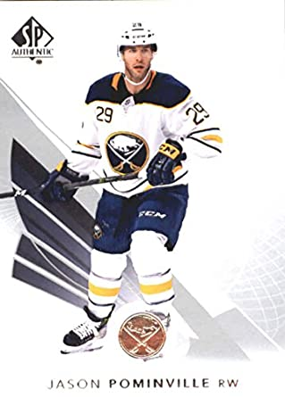 df9849a55c1 2017-18 SP Authentic #16 Jason Pominville Buffalo Sabres NHL Upper Deck  Hockey Card