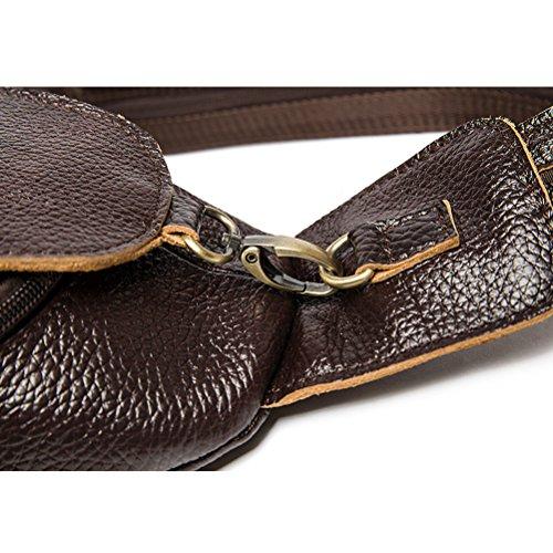 Leather Soft Mens Sling Coffee Teens Zhuhaitf Bag Adjustable Graduation Shoulder Cowhide Gifts Crossbody Strap Women Valentines Messenger qxtTCAX