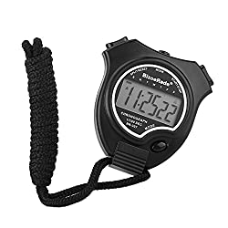 BizoeRade Stopwatch Timer Sports Digital Stopwatch Clock with Large Display for Kids Runner Coach Training Competition