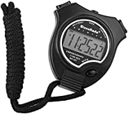 BizoeRade Digital Stopwatch, Sports Stopwatch Timer with Large Display, 2 Lap Memory, Date, Alarm Clock for Co